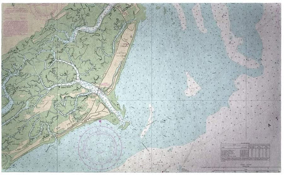 Island Sc Nautical Map Large Door Mat Color Coastal Rectangle Polyester Made USA Stain Resistant