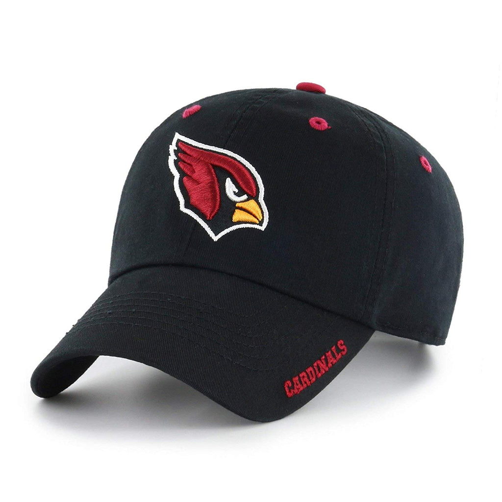 Black NFL Arizona Cardinals Hat Sports Football Baseball Cap Embroidered Team Logo Athletic Games Adjustable Cap/ Hat Boys Kids Unisex Fan Gift