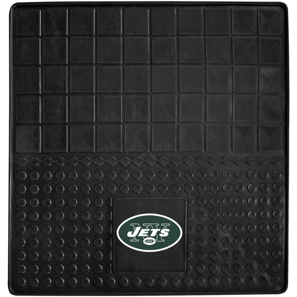 31 X 31 Inches NFL Jets Cargo Mat Football Themed Car Flatbed Trunk Vinyl Square Trunk Carpet Sports Patterned Team Logo Fan Merchandise Athletic Team