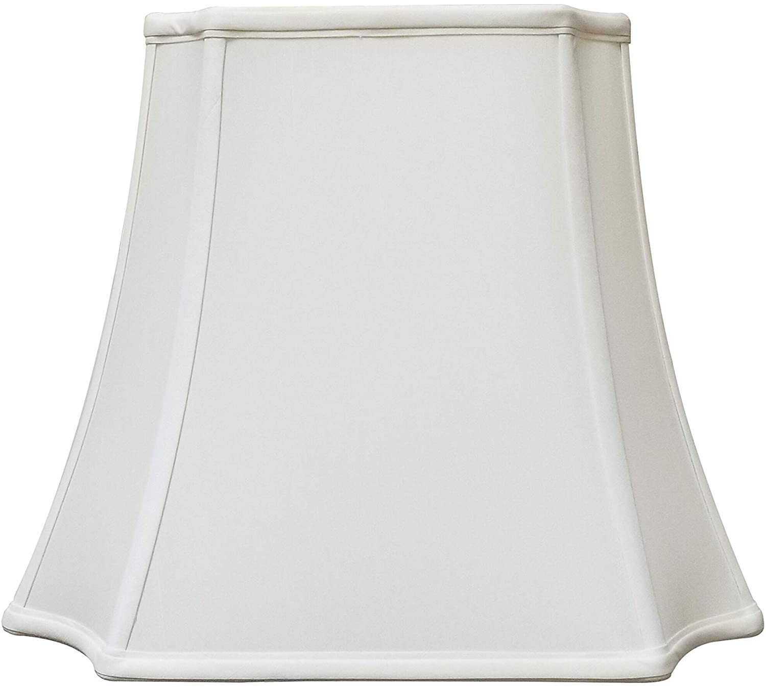 Rectangle Inverted Cut Corners White Lamp Shade (6 25 X 8 25) (11 13) 11 5 Traditional