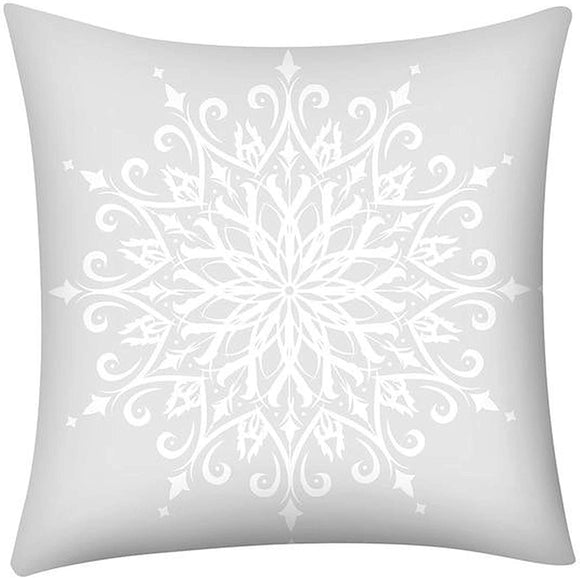 Merry Christmas Throw Pillow Case Snowflake 21296973 261 Color Graphic Casual Cotton Removable Cover