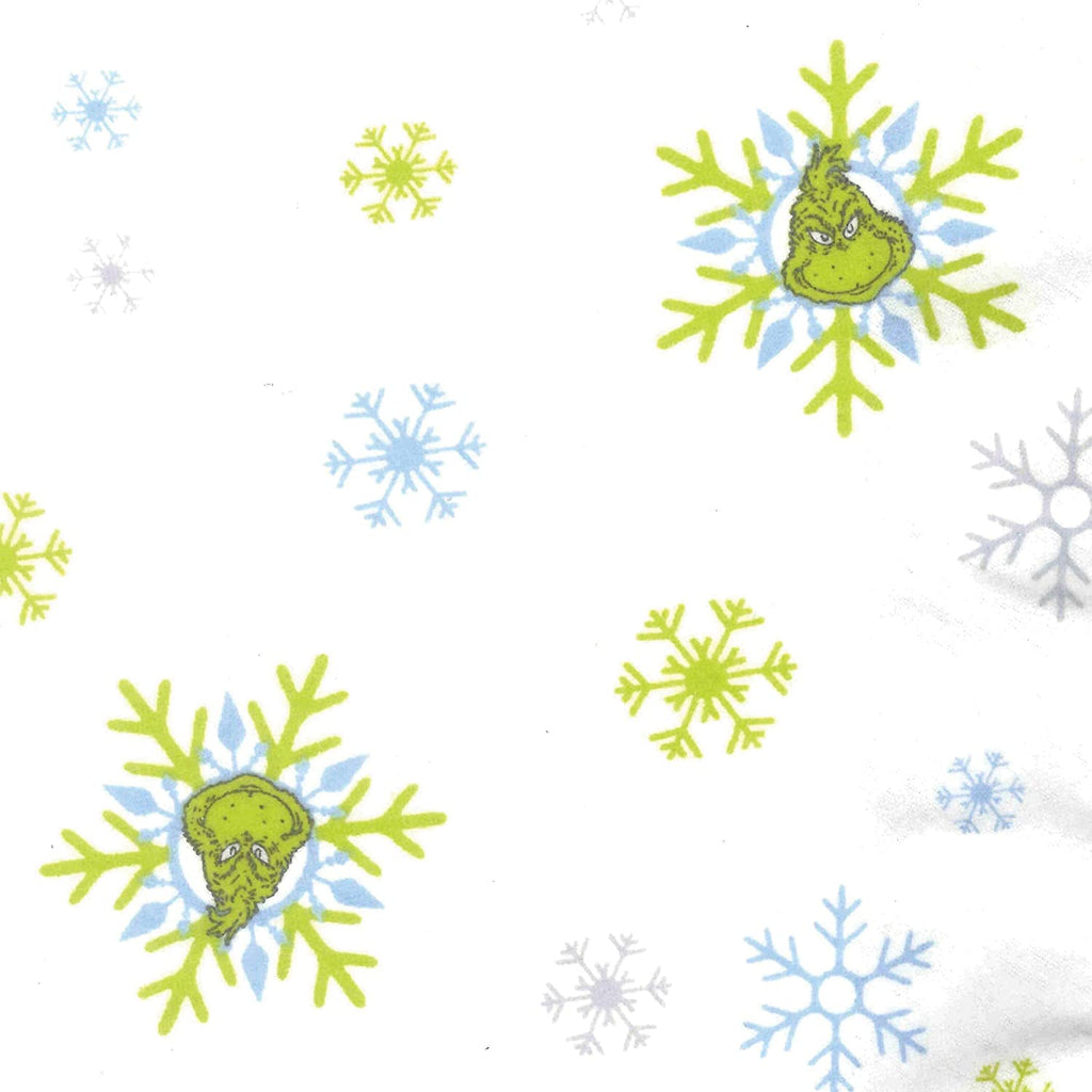 Grinch Deluxe Flannel Fitted Crib Sheet Color Novelty Neutral Licensed Characters Cotton