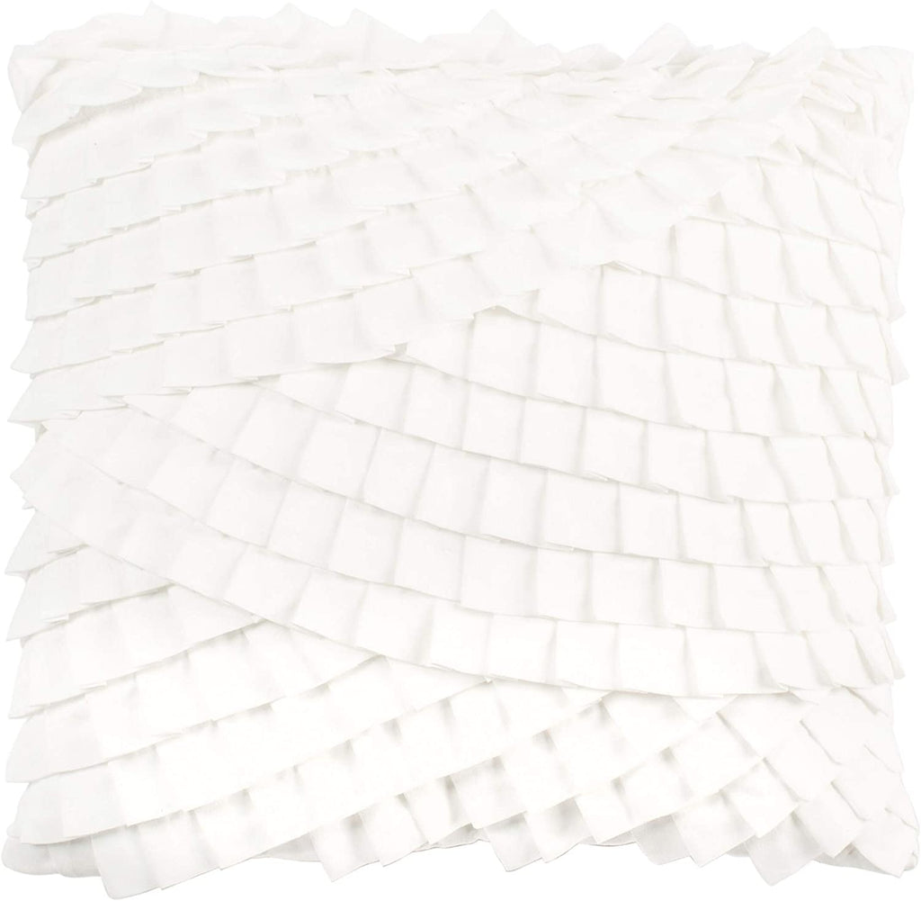 "Unknown1 18"" Pillow White Abstract Modern Contemporary Polyester Single"