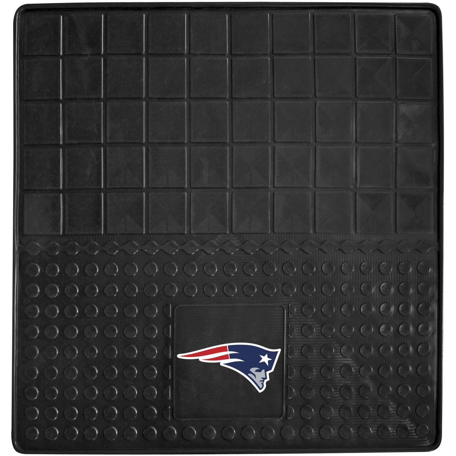 31 X 31 Inches NFL Patriots Cargo Mat Football Themed Car Flatbed Trunk Vinyl Square Trunk Carpet Sports Patterned Team Logo Fan Merchandise Athletic