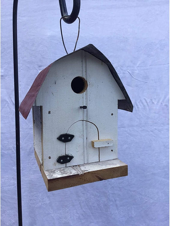 Bark Wood Bird House Brown Hanging Made USA