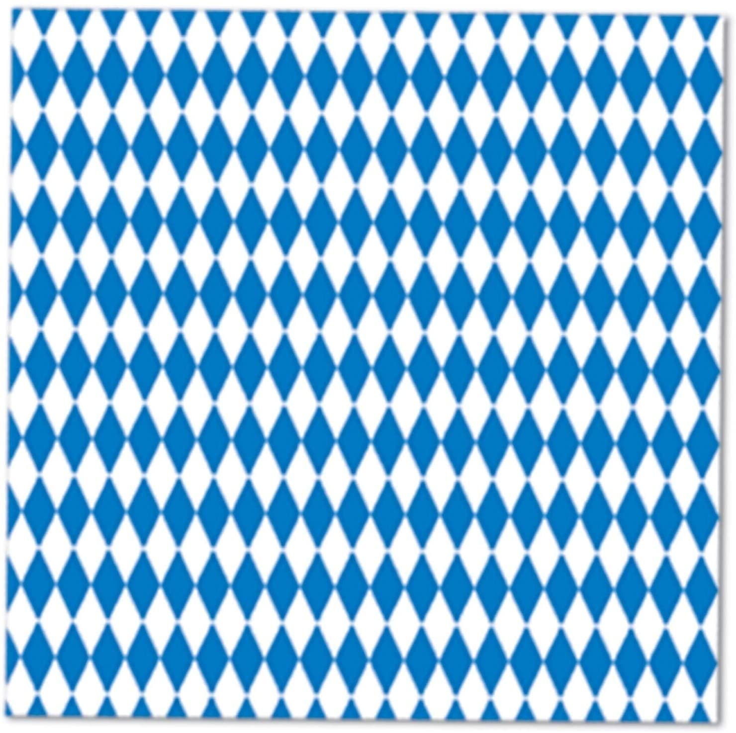 2 ply Blue White Oktoberfest Napkins 12 Pack (16/pkg) Modern Contemporary Square Organic