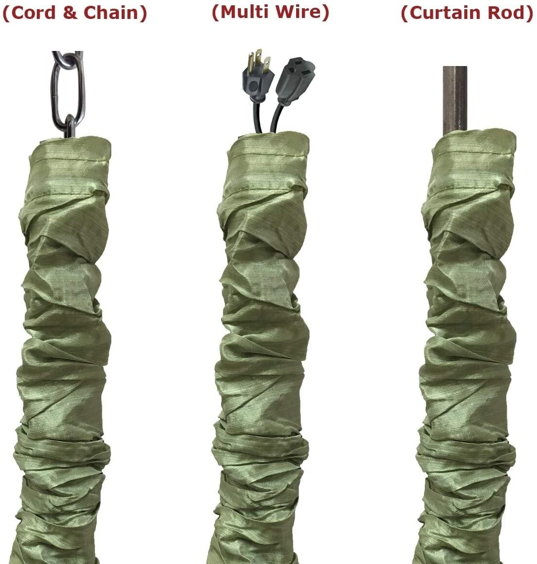 MISC Pear Green Cord Chain Cover 4 Feet Set 2