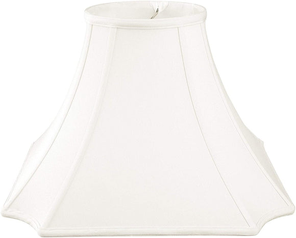 Square Inverted Cut Corner Basic Lamp Shade White 6 X 12 9 5 Traditional