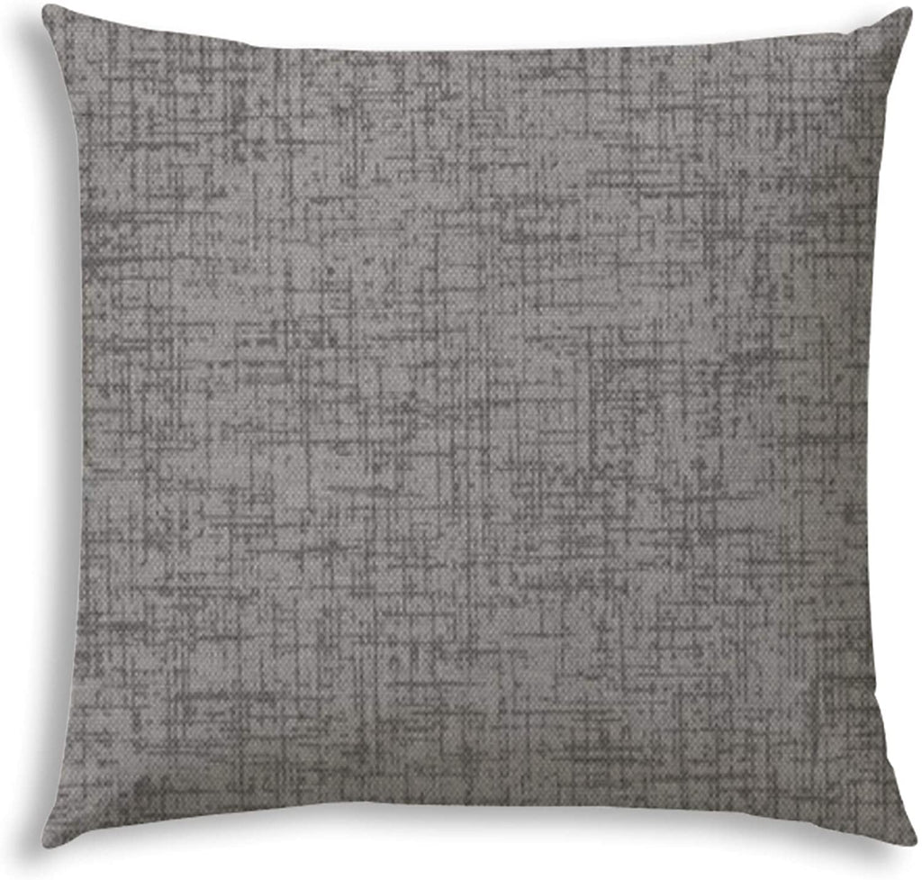 Grey Indoor/Outdoor Pillow Sewn Closure Color Graphic Modern Contemporary Polyester Water Resistant
