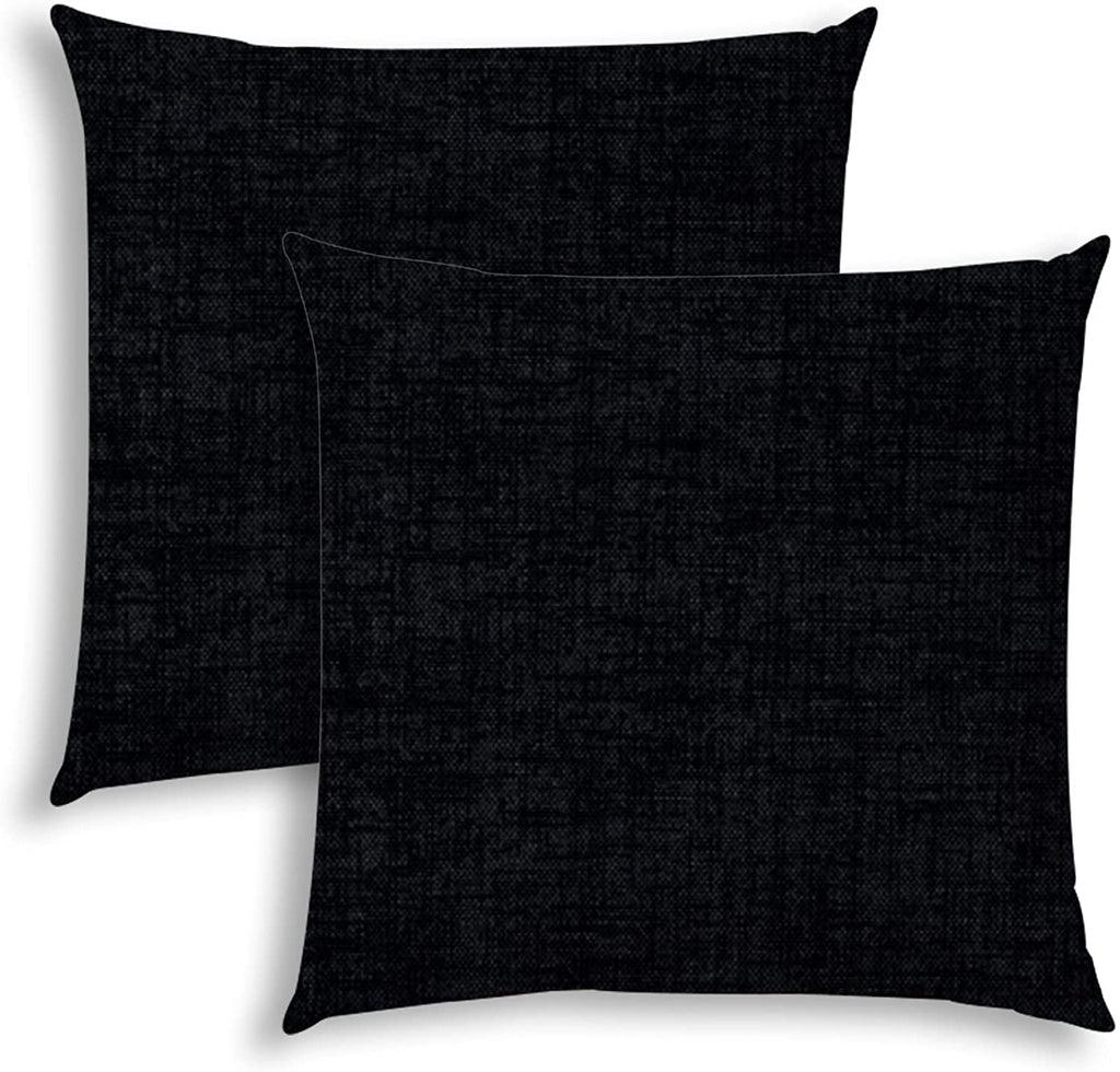 Weave Black Indoor/Outdoor Pillows Sewn Closure (Set Two) N/ Color Graphic Modern Contemporary Polyester Water Resistant