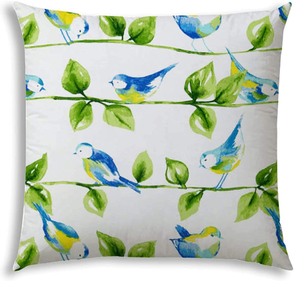 Tweet Indoor/Outdoor Pillow Sewn Closure N/ Color Graphic Modern Contemporary Polyester Water Resistant