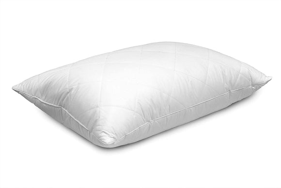 Quilted Cover White Goose Feather Down Pillow