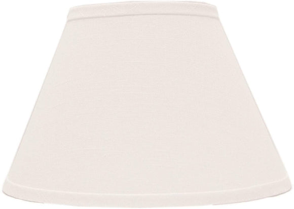 White Linen 16 Inch Empire Lamp Shade Washer Modern Contemporary