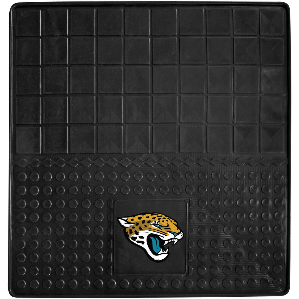 31 X 31 Inches NFL Jaguars Cargo Mat Football Themed Car Flatbed Trunk Vinyl Square Trunk Carpet Sports Patterned Team Logo Fan Merchandise Athletic