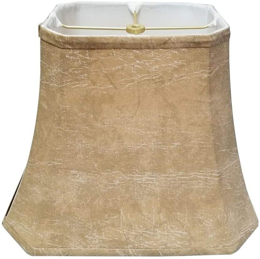 Rectangle Cut Corner Lamp Shade (7 X 9) (10 25 16) 12 25 Brown Traditional