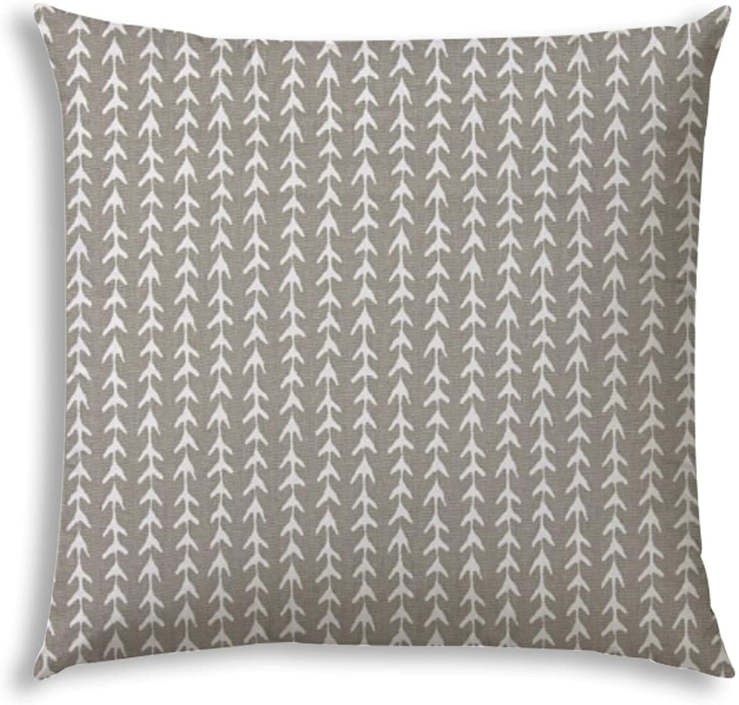Trek Taupe Indoor/Outdoor Pillow Sewn Closure N/ Color Striped Modern Contemporary Polyester Water Resistant