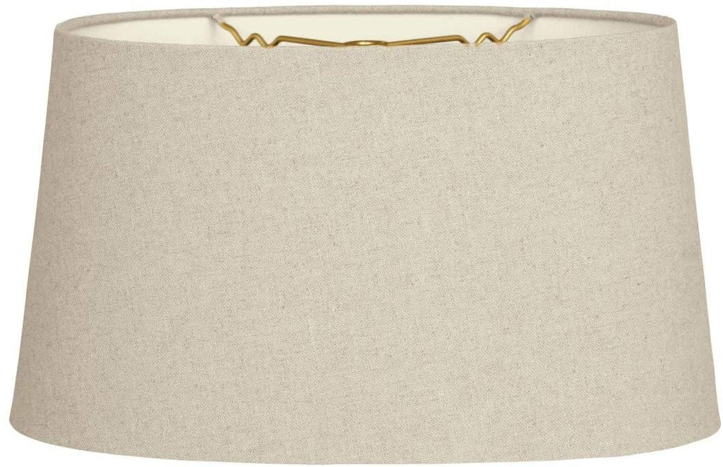 Shallow Oval Hardback Lamp Shade Linen Cream 8 X 10 5 5 Cream Traditional