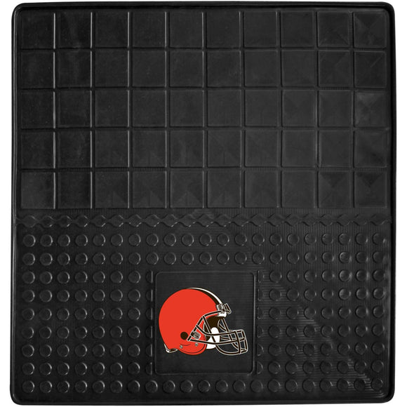31 X 31 Inches NFL Browns Cargo Mat Football Themed Car Flatbed Trunk Vinyl Square Trunk Carpet Sports Patterned Team Logo Fan Merchandise Athletic