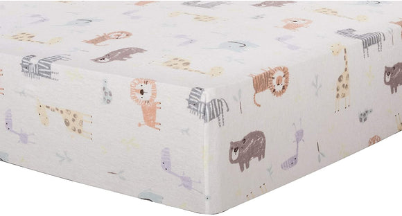 Jungle Deluxe Flannel Fitted Crib Sheet Color Cotton