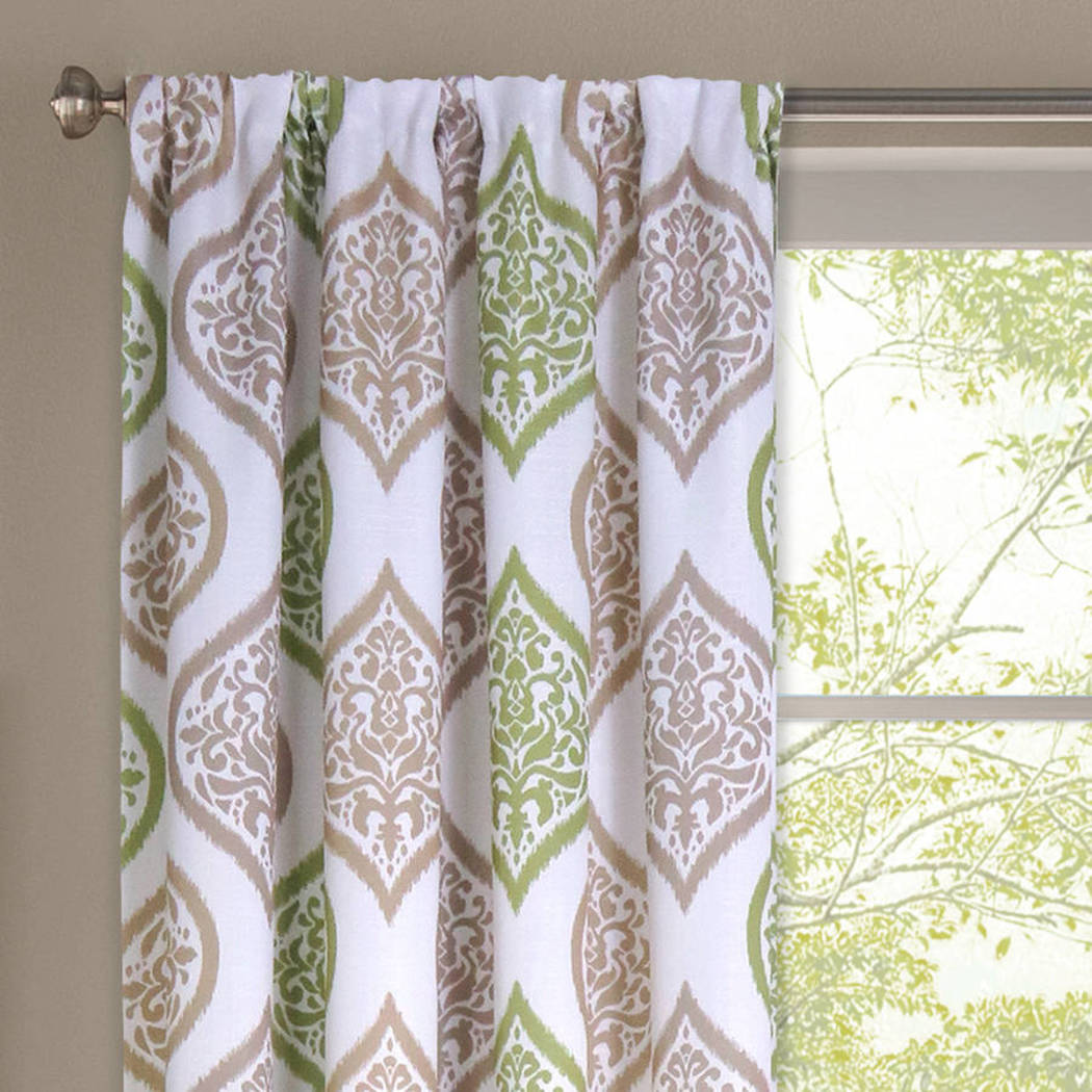 Damask Window Curtain Medallion Ogee Paisley Moroccan Textured Single Panel Distinctive Contemporary Diffused Filter Window Treatment Drape Rod Pocket Polyester