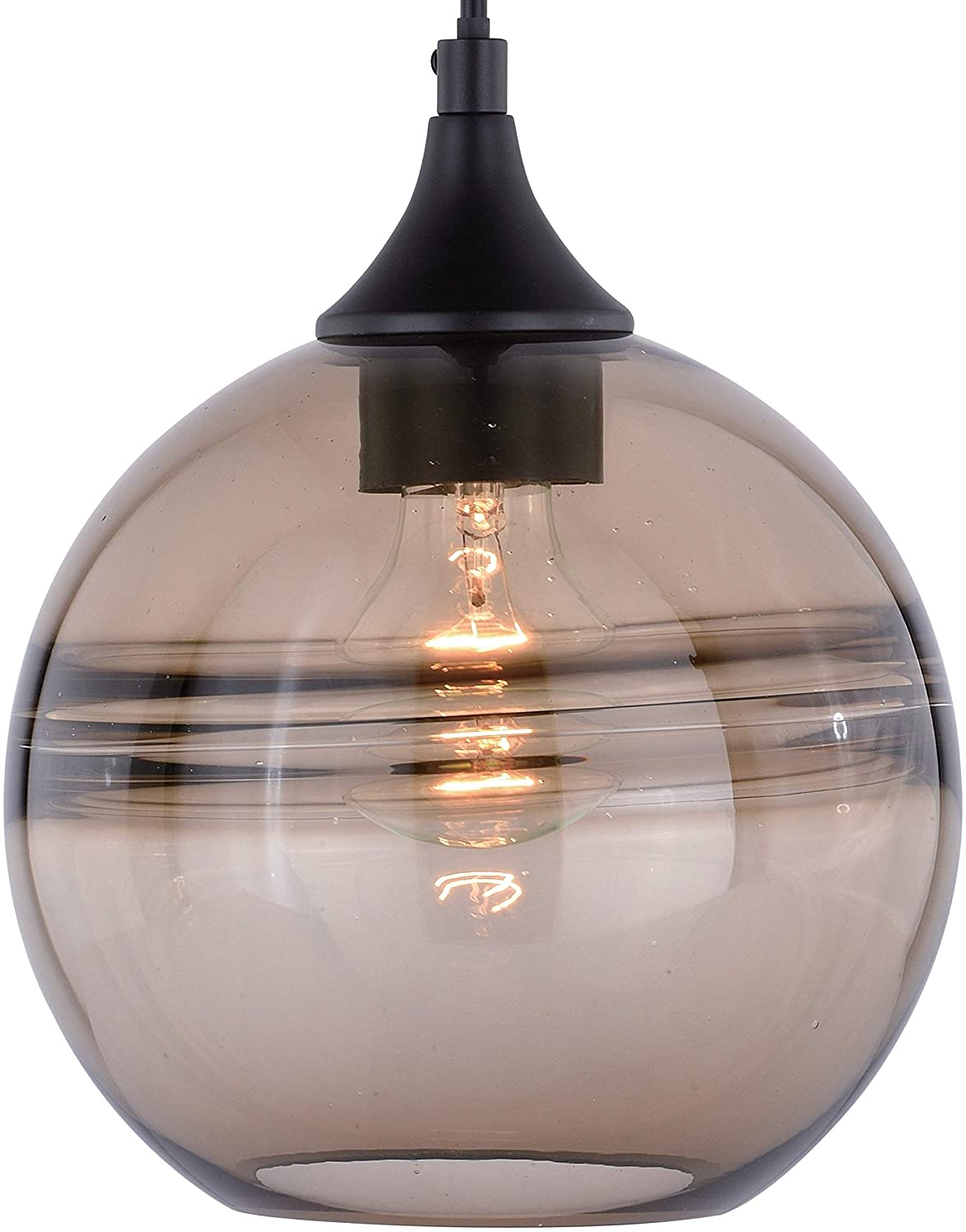 Bronze Globe Mini Pendant Ceiling Light Amber Fog Glass 8 W X 9 25 H D Brown Transitional Steel Dimmable