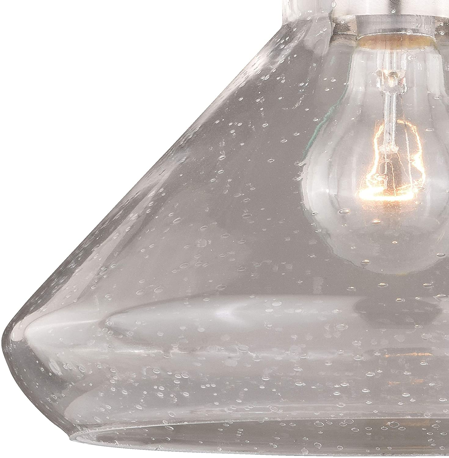 Curie 9 75 W Satin Nickel Jar Semi Flush Mount Ceiling Light Clear Glass X H D Grey Farmhouse Modern Contemporary Steel Dimmable