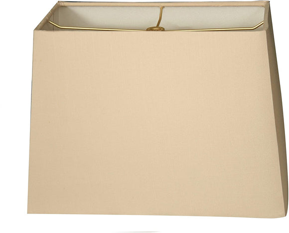 Rectangle Hard Back Lamp Shade Beige (7x14) X (9x16) 11 Traditional