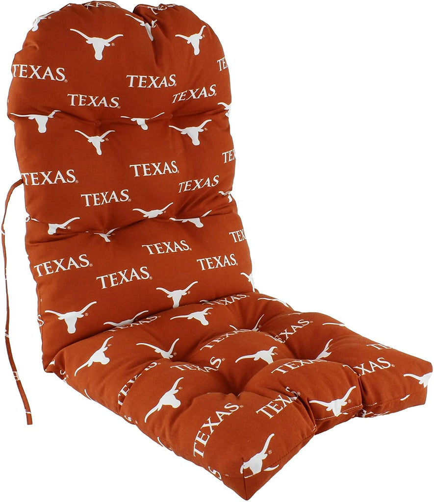Texas Longhorns Chair Cushion Color Solid Casual Polyester Uv Resistant