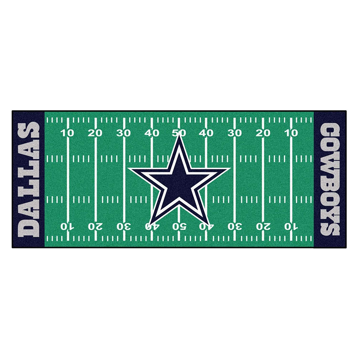 30x72 NFL Cowboys Rug Football Field Runner xl Long Yoga Mat Sports Area Rug Boys Bedroom Living Room Bathroom Rugs Runner Floor Carpet Athletic Game