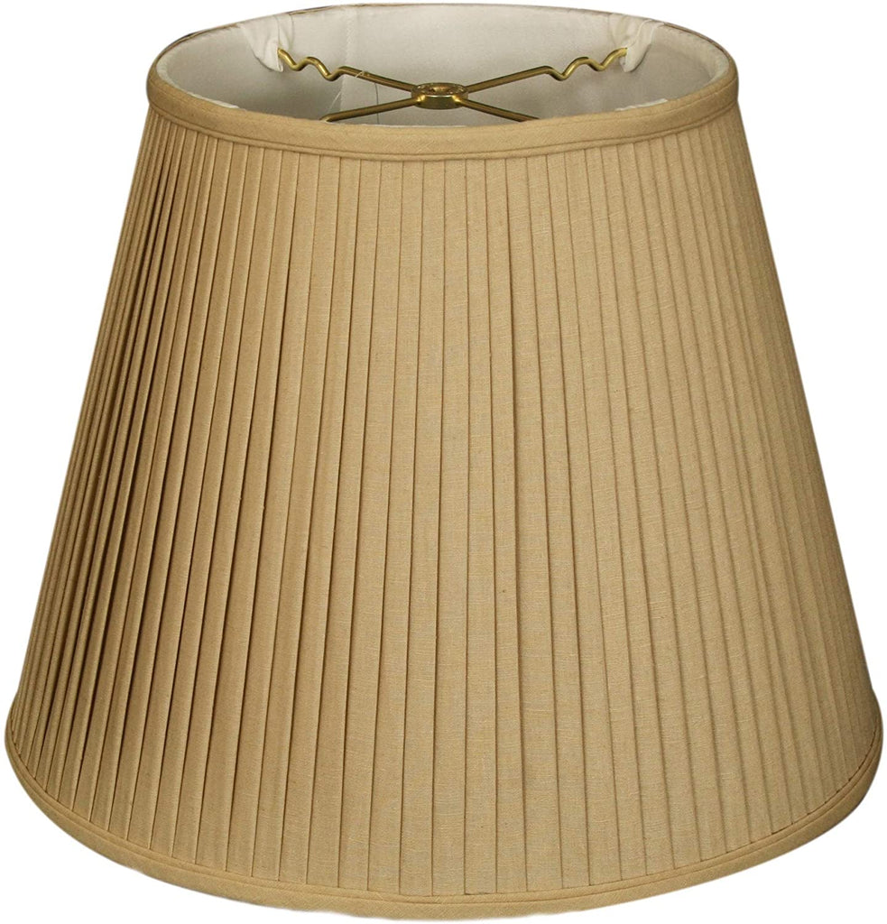 Side Pleat Basic Lamp Shade Linen/Taupe 9 X 14 10 5 Traditional