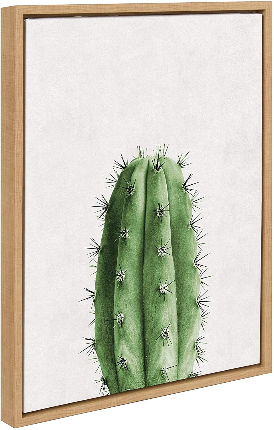 Cactus Vertical Framed Canvas Wall Art Natural 18 X 24 Modern Contemporary Rectangle
