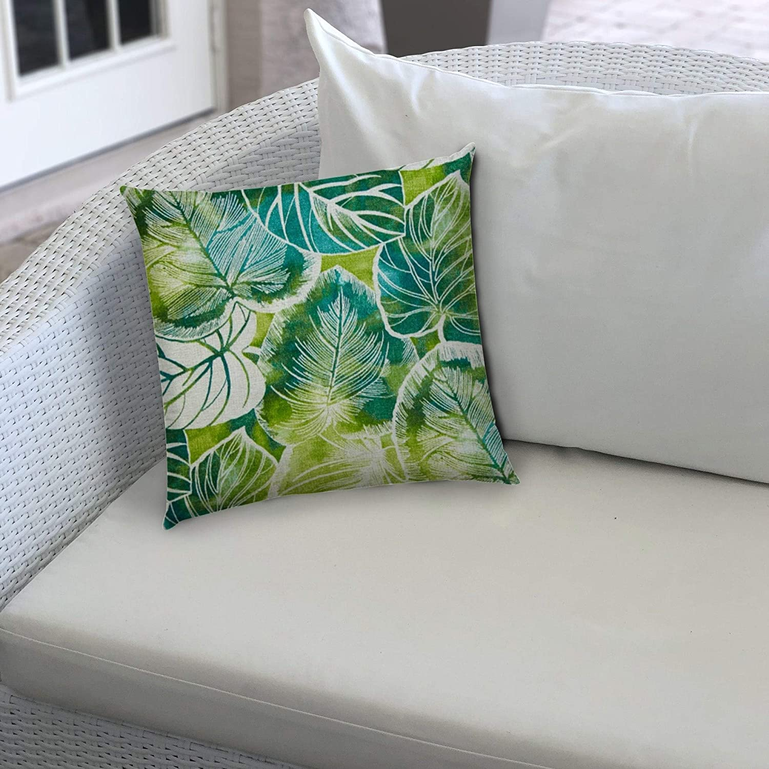 Teal Indoor/Outdoor Pillow Sewn Closure (Set 2) Color Graphic Modern Contemporary Polyester Water Resistant