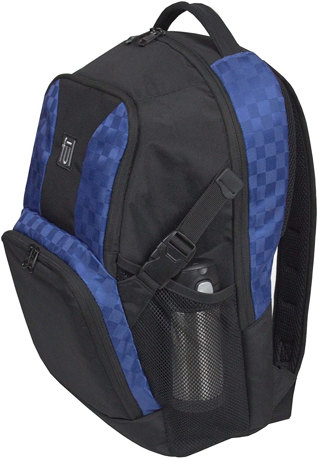Jasper Laptop Backpack Blue Solid Polyester Compartment