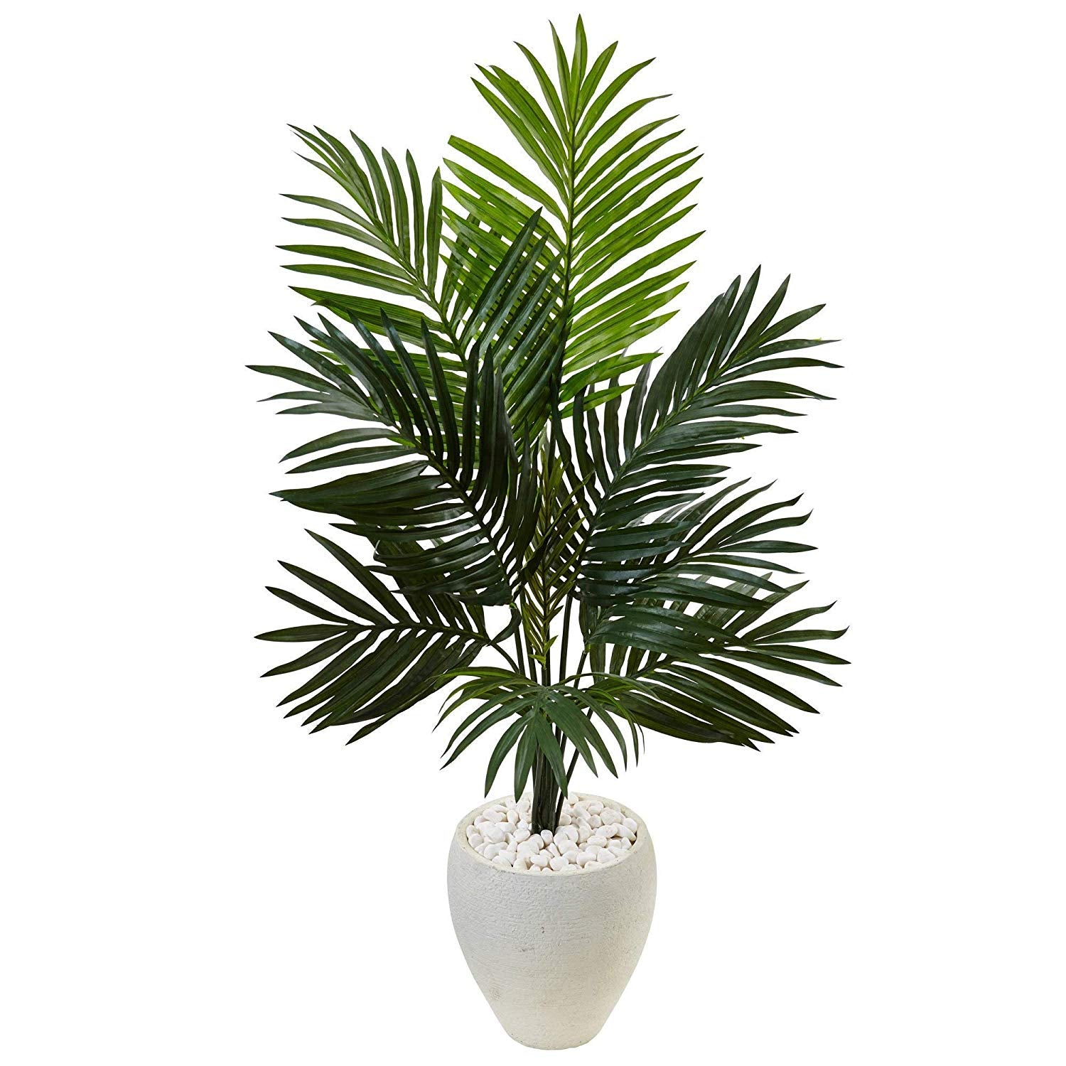 Green Kentia Palm Tree Artificial Plants Oval Planter Tropical Indoor Palmtree Howea Forsteriana Botanical Floral Arecaeae Beachscape Oasis Cottage 4