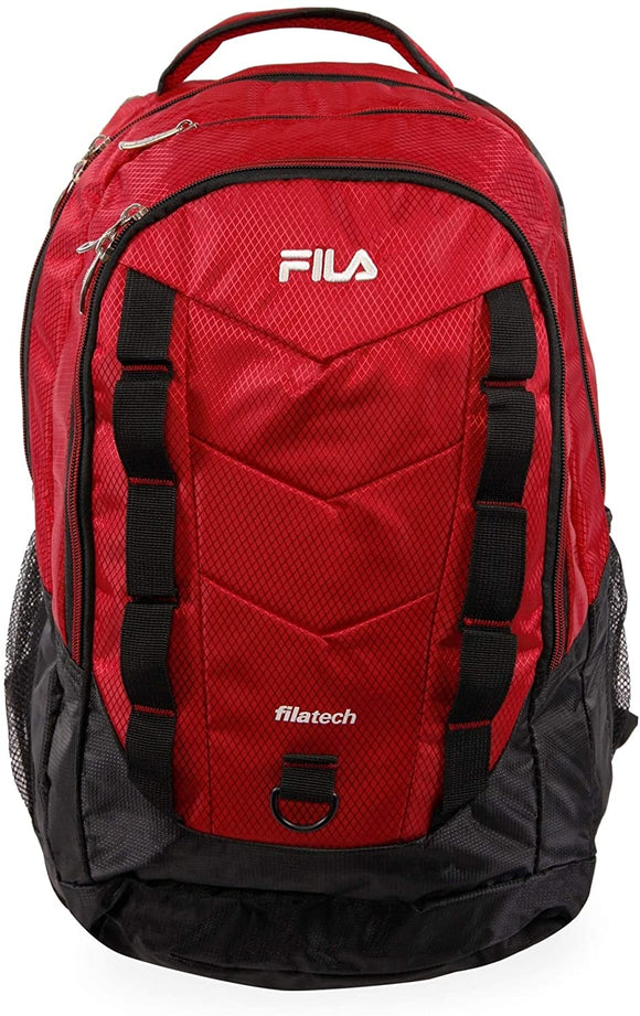 Deacon Iv XXL Laptop Tablet Backpack Red Solid Polyester Compartment Adjustable Strap