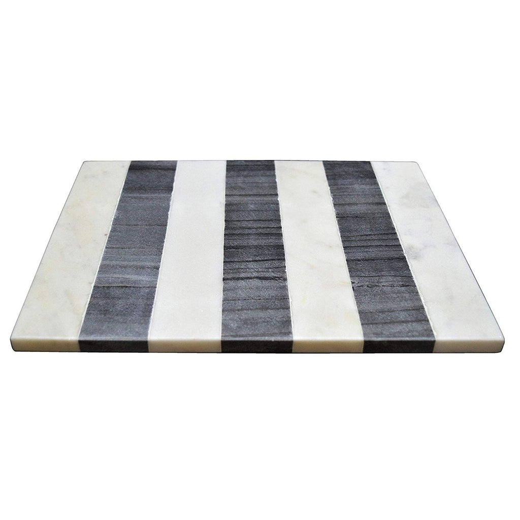 Black Marbling Tray White Marble Cutting Board Home Decor Stoneware Serving Tray Monochrome Marble