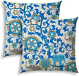Indoor/Outdoor Pillows Sewn Closure (Set Two) Color Graphic Modern Contemporary Polyester Water Resistant