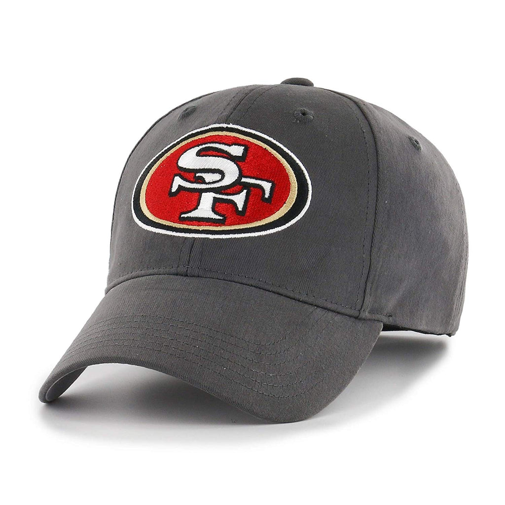 Grey NFL San Francisco 49Ers Cap Sports Football Hat Team Logo Athletic Games Baseball Cap Hat Boys Kids Unisex Fan Gift Adjustable Strap Closure