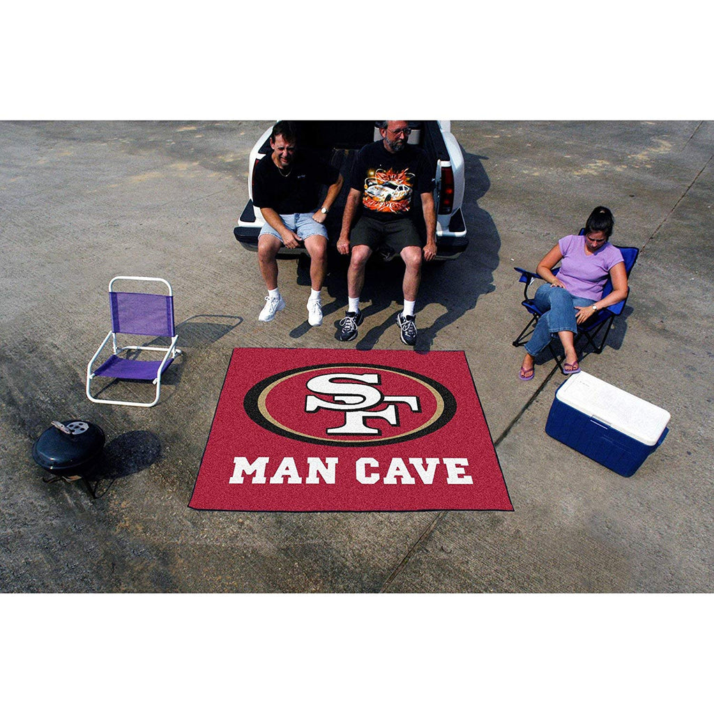 5'x6' NFL 49ers Mat Sports Football Area Rug Team Logo Printed Large Mat Floor Carpet Bedroom Living Room Tailgate Man Cave Home Decor Athletic Game