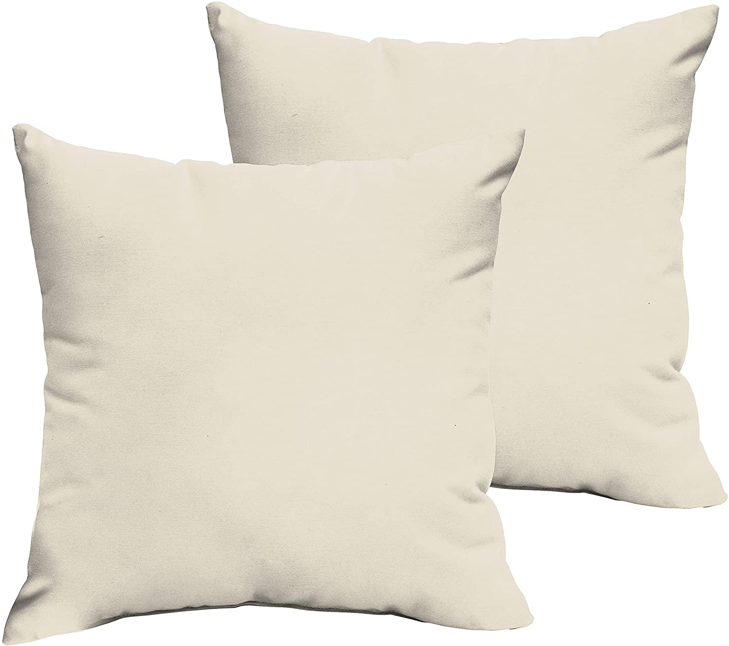 Ivory 22 X 22 inch Indoor/Outdoor Knife Edge Pillow Set White Solid Modern Contemporary Traditional Transitional Polyester Fade Resistant Uv Water