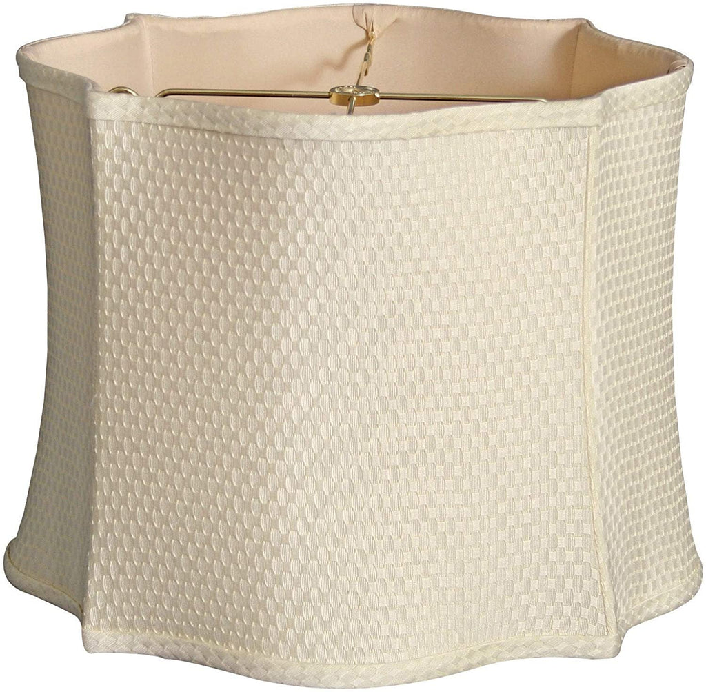 Fancy Scalloped Square Designer Lamp Shade Cream 12 X 13 10 Cream Modern Contemporary Traditional