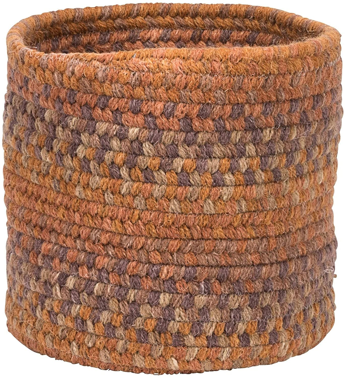 "MISC Small Space Wool Basket Fall Oak 10""x10""x8"" Orange"