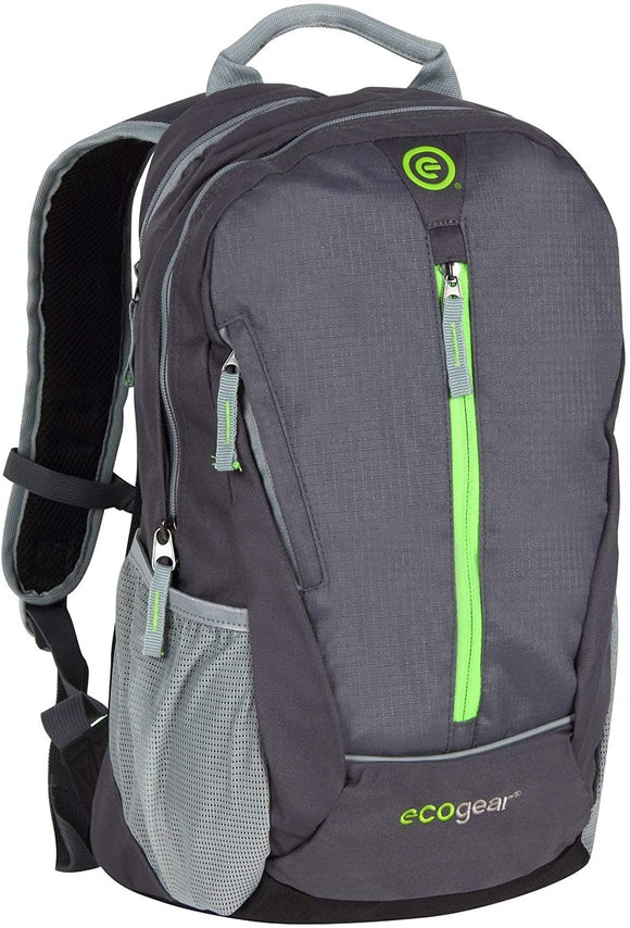 Charcoal Backpack Grey Solid Polyester Compartment