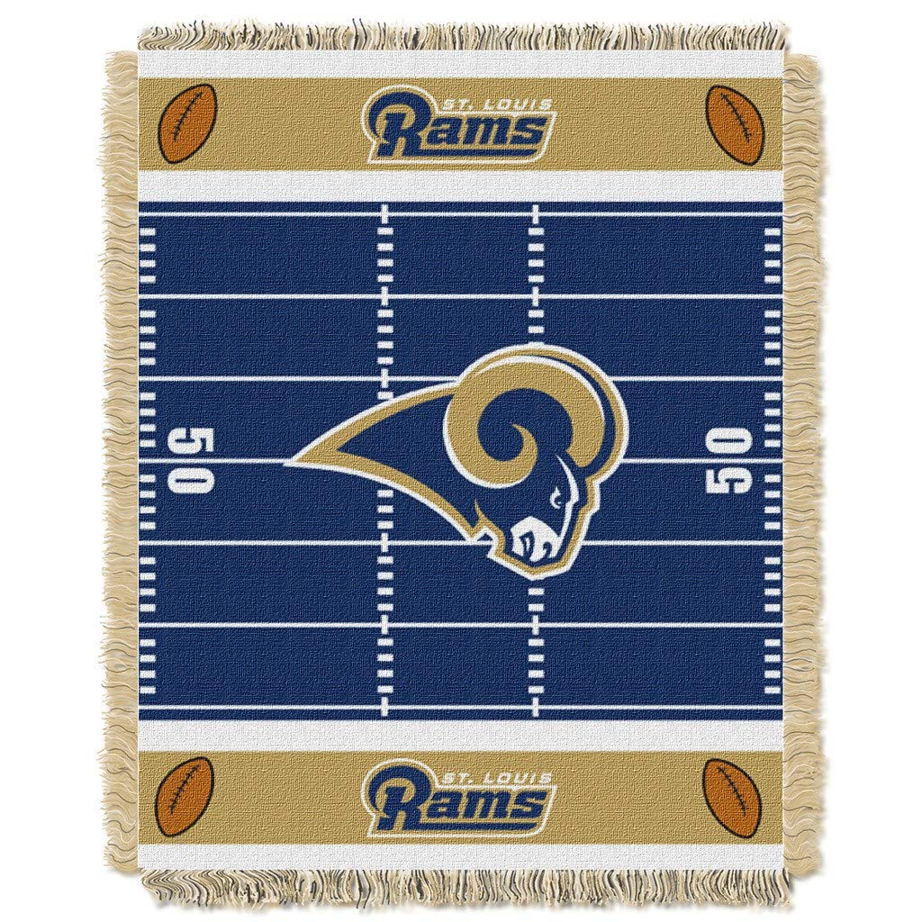 "36""x46"" NFL Rams Baby Throw Sports Football Blanket Team Logo Printed Football Field Plush Cozy Throw Blanket Kids Super Soft Warm Bedding"