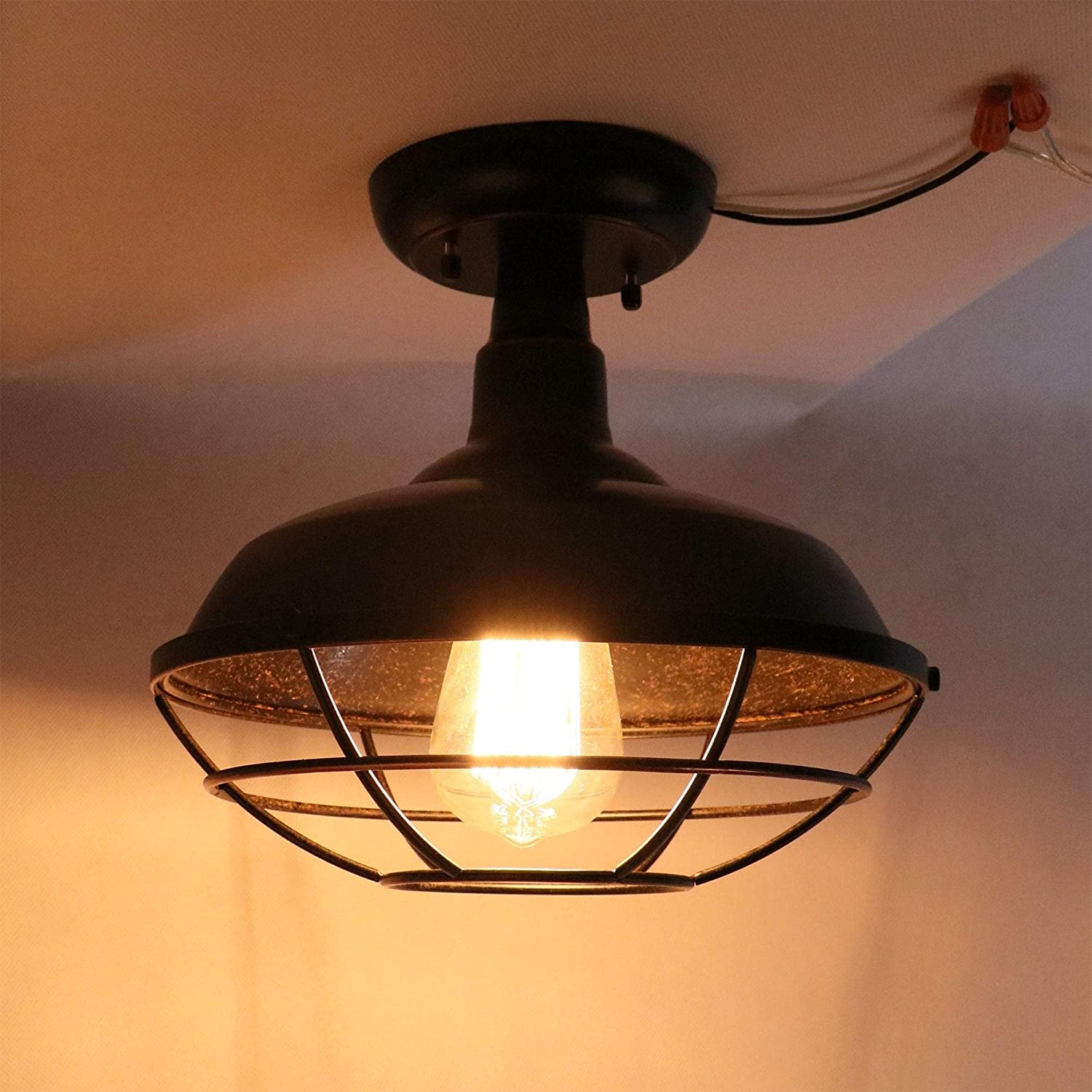 1 Light Ceiling Light Oil Rubbed Bronze Traditional Metal Dimmable