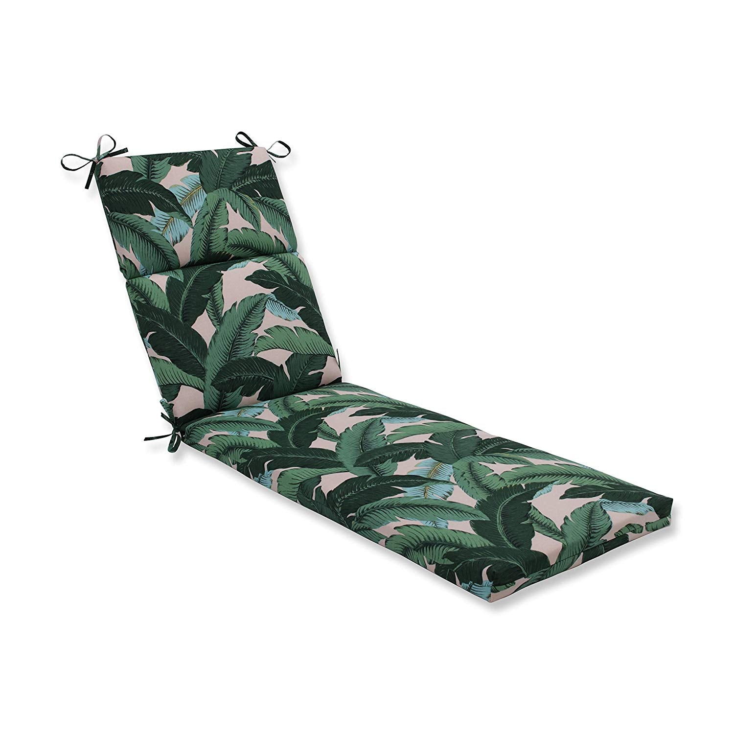 "72"" Lounge Cushion Green Tropical Botanical Outdoor 6ft Patio Chaise Pad Lounger Beach Nautical Coastal Long Oversized Rectangle Shaped All"