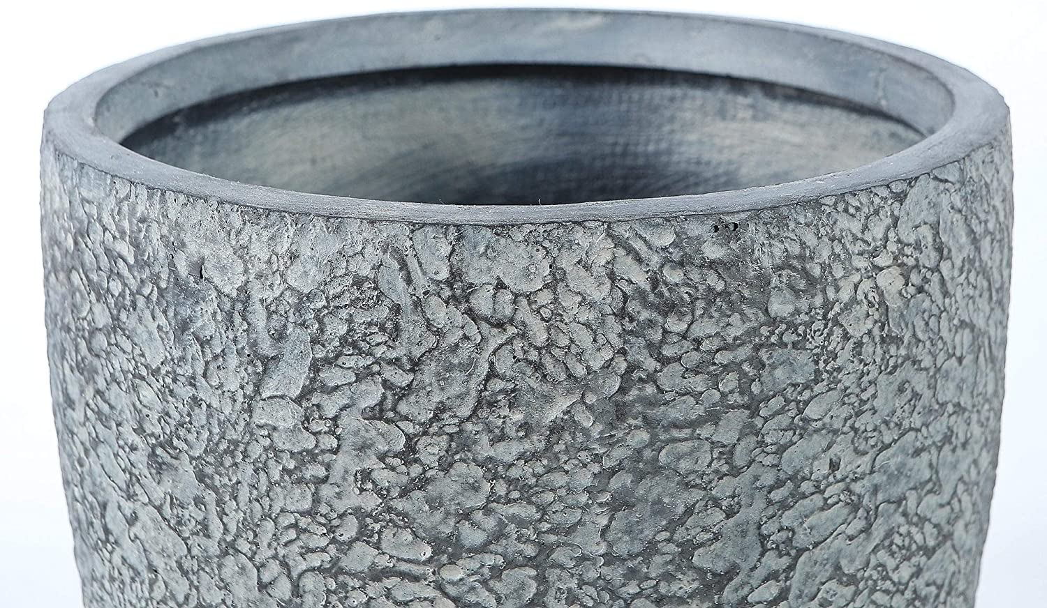 14 8in Dia Mgo Blue Gray Textured Planter Grey Traditional Round
