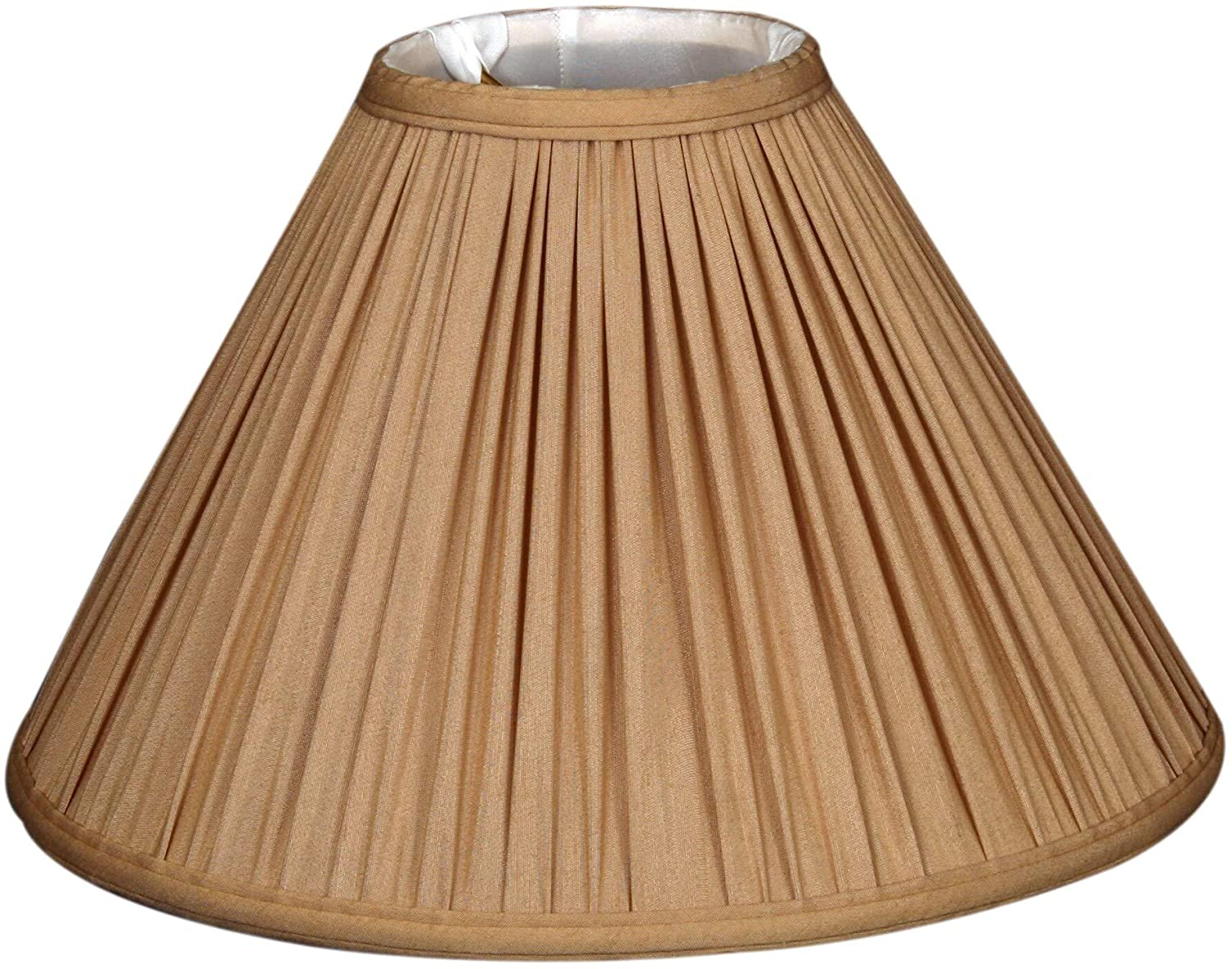 Gather Pleat Basic Lamp Shade Antique Gold 5 X 14 9 5 Traditional