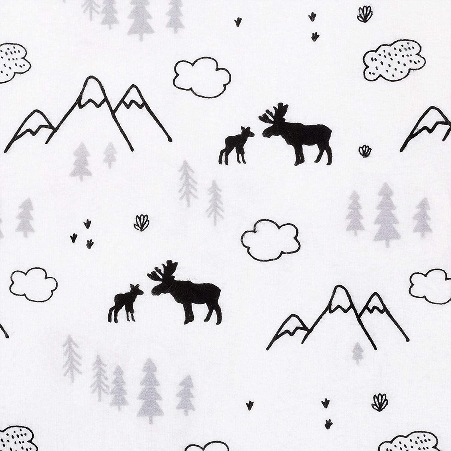Lumberjack Moose Deluxe Flannel Fitted Crib Sheet Color Boys Animals Cotton