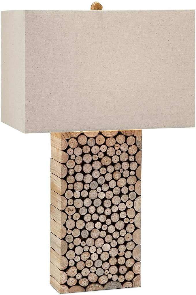 MISC Wood Table Lamp Brown